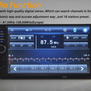 7 inch 2 DIN Touch Screen Universal In-Dash Car Radio Stereo