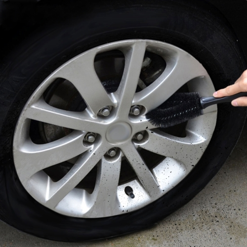 Car Tire Rim Hub Scrub Washing Tool (Black)