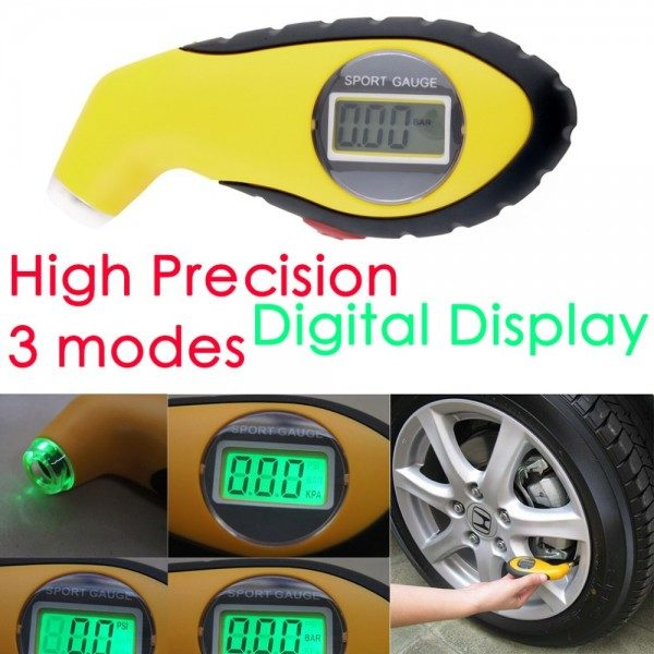 LCD Digital Tyre Air Pressure Gauge