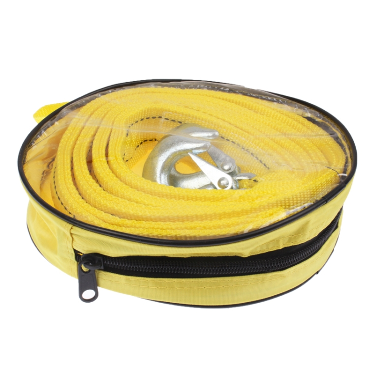 3 Tons Vehicle Towing Cable Rope, Length: 4m(Yellow)