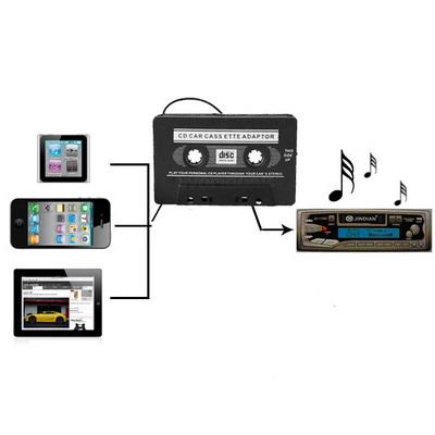 Car Audio Cassette Adapter (Black)